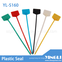 Farbige Pull Tight Plastic Seal zum Markieren