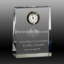 Elegant personalized crystal big desk clock