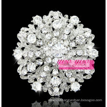 classic floral garden crystal brooch