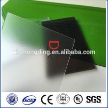 Feuille de polycarbonate givré Zhejiang / feuille de polycarbonate mat