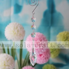 Plastic Cut Crystal delieIcicle Spear Chanr Prisms 19CM
