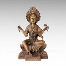 Buddha Statue 4 Arms Flammule Bronze Sculpture Tpfx-B79