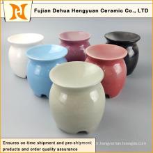 Diffuseur d'huile de porcelaine colorée et glacée avec bougie Tealight