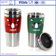 Personalizados canecas de viagens viagens café caneca parede dupla inox ou Tumbler