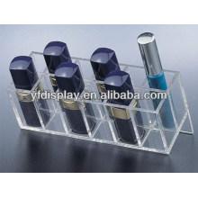 Affichage cosmétique acrylique pour le rouge à lèvres et le support de mascara dans la couleur claire