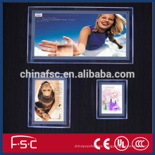 Crystal led digital menu board acrylic light box from factory
