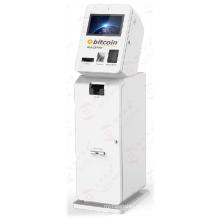 Efectivo de entrada y salida del cajero automático de Bitcoin ATM