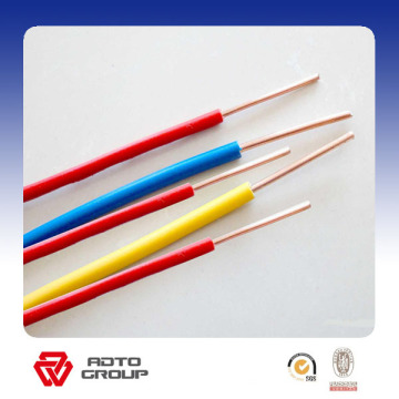 PVC Insulated Wire Solid Copper Conductor BV Electric Cable