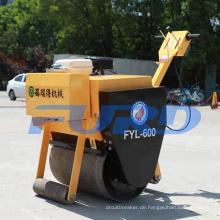 325 kg Vibrationsverdichter! Kleine manuelle Einzeltrommel-Straßenwalze (FYL-600)