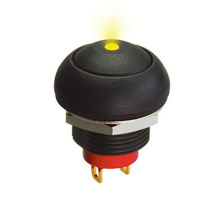 IP67 Round Cap LED Switch Button Pukulan bercahaya