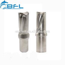 Forets en carbure monobloc BFL de grand diamètre, forets à longue longueur de coupe en carbure