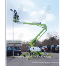 trailer mounted boom aerial working platform table