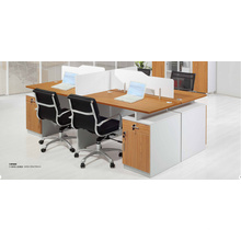 2.4m reinforce modish engrain aluminium office workstation with locker