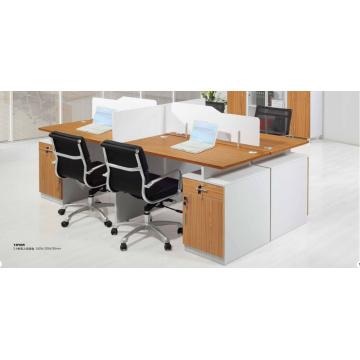 2.4m reinforce modish engrain aluminium office workstation with locker