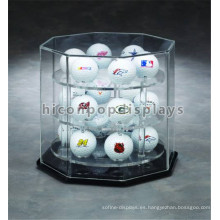 Counter Top Shopping Mall Personalizado de 3 capas de acrílico pelota de hockey y pelota de béisbol Ball Display Case