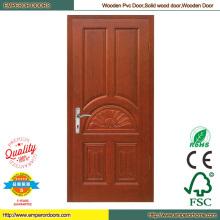 Decoración puerta de madera puerta de madera compuesta puerta de madera bajo