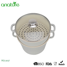 Ceramic Coating Die Casting Aluminum Steamer Sauce Pot