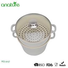 La capa de cerámica a presión el pote de aluminio de la salsa del vapor de la fundición