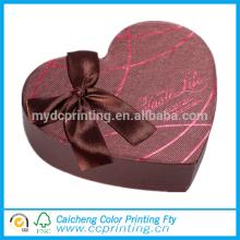 Caja de regalo de empaquetado del chocolate de la diversa forma del corazón