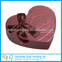 Différents types de boîte de cadeau d'emballage de chocolat en forme de coeur