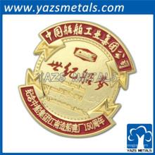 Faites de votre logo une médaille de souvenir en métal plaqué or