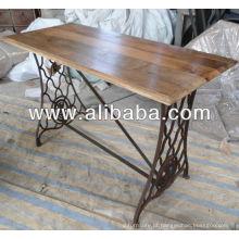 Máquina de costura mesa de pé de ferro fundido