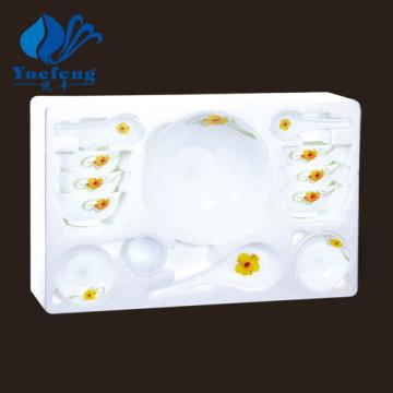Conjunto de sopa produtos vidreiros-17PCS Opal resistente ao calor