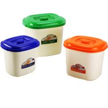 Récipient de stockage en plastique créatif pour la maison (SLSN050)