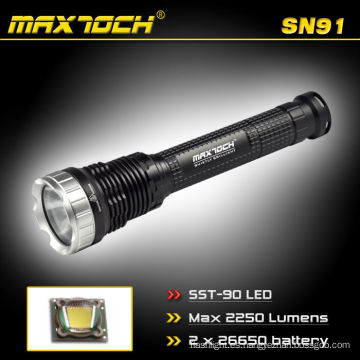 Maximoch SN91 2250 Lúmenes 2 * 26650 Batería de largo alcance LED Al aire libre Caza Linterna