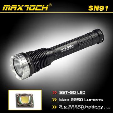 Maxtoch SN91 2250 Lumens 2 * 26650 Bateria de Longo Alcance LED Ao Ar Livre Caça Lanterna