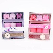 Set de velas de regalo morado y rosa