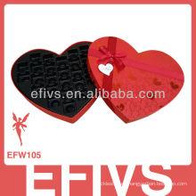 Proveedor de la caja roja del favor de la boda del chocolate elegante caliente de la venta