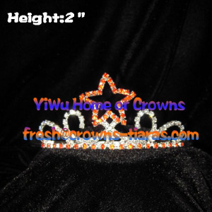 2in Red Star Pageant Crowns--Hot Selling