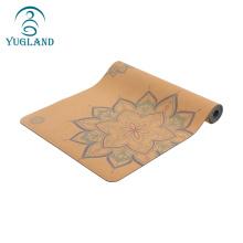 Yugland colorful custom printed natural rubber softextile gym mat/exercise mat/gymnastics mat for yoga