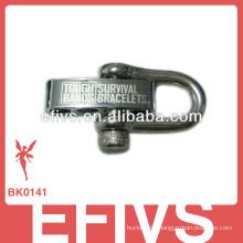 metal Adjustable buckle paracord bracelet shackle