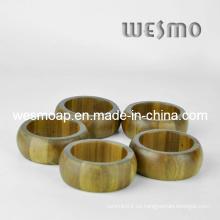 Utensilios de cocina respetuosos del medio ambiente Anillos de servilleta de bambú