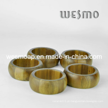Utensílios de cozinha ecológicos Anéis de guardanapo de bambu