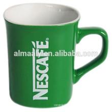 Großhandelskundenspezifische Entwurfskaffeetassen Steingut