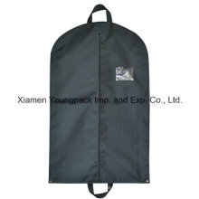 Custom Black Non-Woven Polypropylene Suit Travel Garment Bag