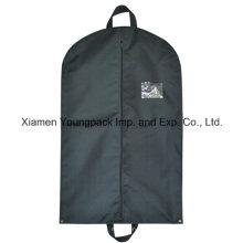 Custom preto não-tecidos polipropileno terno viagem vestuário saco