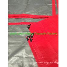 Virgin Material Red Silver Tarpaulin