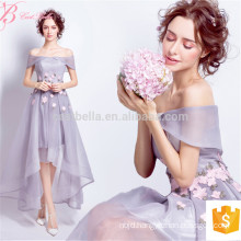 2017 New Style Sexy Peach Color Off-Shoulder Lady Evening Dress