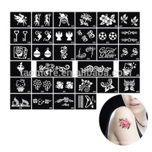 Flower Drawing Stencil wings tattoos designs phoenix dragon mix design, wholesale Reusable glitter tattoo stencils