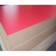 MDF laminado de melamina de 18 mm con diferentes colores para muebles