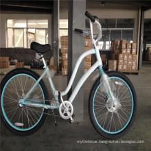 "3.0"" Fat Tire Ladies Nexus 3 Speed Aluminum Alloy Frame Disc Brake Lady Beach Cruiser Bike"