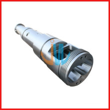 conical screw and barrel for pvc pipe