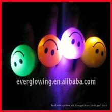 Anillo de luz LED intermitente con cara de sonrisa