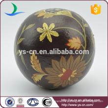 Atacado clássico cerâmica esfera Home Decor com pintura a óleo