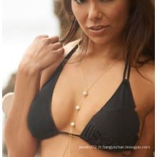 Body bijoux en bikini corps chaînes femme perle