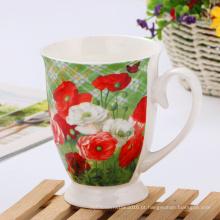 Caneca de cerâmica creativa do estilo da flor de Inglaterra